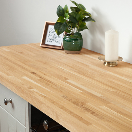 Sale Solid Oak Kitchen Worktops 3m 4m Amp Breakfast Bars Wooden Work Surface Ebay